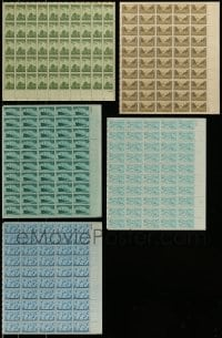 8m017 LOT OF 5 UNITED STATES ARMED SERVICES STAMP SHEETS 1940s containing a total of 250 stamps!