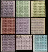 8m020 LOT OF 9 U.S. STATES AND TERRITORIES COMMEMORATIVE STAMP SHEETS 1940s-1950s a total of 450 stamps!