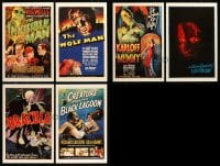 8m002 LOT OF 6 UNIVERSAL MASTERPRINTS 2001 all the best horror movies including Dracula & Creature!