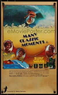 8p017 MANY CLASSIC MOMENTS Aust special poster 78 surfing, wacky Surf Wars cartoon as well!