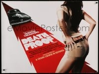 8p354 DEATH PROOF DS British quad 2007 Quentin Tarantino's Grindhouse, different sexy image!