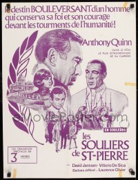 8p029 SHOES OF THE FISHERMAN Canadian 1969 Pope Anthony Quinn tries to prevent World War III!