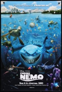 8p320 FINDING NEMO advance DS English 1sh 2003 best Disney & Pixar animated fish movie, Bruce!