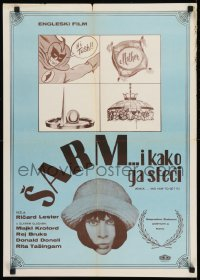 8p284 KNACK & HOW TO GET IT Yugoslavian 20x28 1965 Rita Tushingham in English comedy!