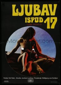 8p288 LOVE UNDER 17 Yugoslavian 19x27 1981 different image of sexy naked Linda Robertson!