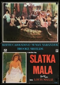 8p299 PRETTY BABY Yugoslavian 19x27 1978 Keith Carradine, young Brooke Shields, Susan Sarandon!