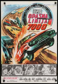 8p300 RED LINE 7000 Yugoslavian 19x28 1965 Howard Hawks, James Caan, car racing artwork!