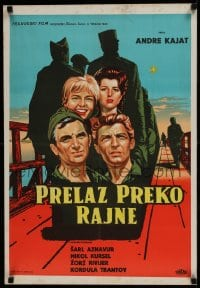 8p312 TOMORROW IS MY TURN Yugoslavian 19x28 1962 Andre Cayatte, Charles Aznavour, Nicole Courcel!