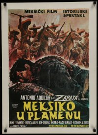 8p318 ZAPATA Yugoslavian 20x27 1970 Antonio Aguilar, Felipe Cazals, completely different artwork!