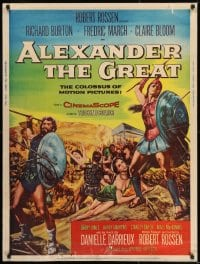 8r004 ALEXANDER THE GREAT style Z 30x40 1956 Richard Burton, Frederic March as Philip of Macedonia!