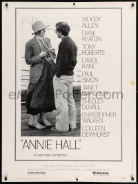 8r005 ANNIE HALL 30x40 1977 full-length Woody Allen & Diane Keaton, a nervous romance!