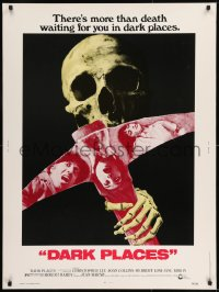 8r017 DARK PLACES 30x40 1974 cool image of skull & pick, there's more than death waiting for you!