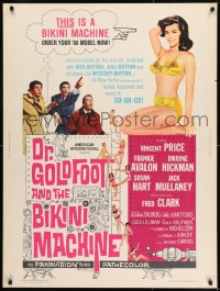 8r019 DR. GOLDFOOT & THE BIKINI MACHINE 30x40 1965 Vincent Price, sexy babes with kiss & kill buttons!