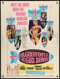 8r020 DR. GOLDFOOT & THE GIRL BOMBS 30x40 1966 Mario Bava, Vincent Price & sexy half-dressed babes!