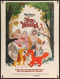 8r023 FOX & THE HOUND 30x40 1981 two friends who didn't know they were supposed to be enemies!