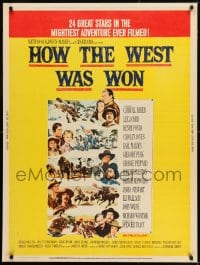 8r034 HOW THE WEST WAS WON 30x40 1964 great Reynold Brown montage art of John Ford epic!