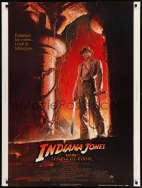 8r036 INDIANA JONES & THE TEMPLE OF DOOM 30x40 1984 adventure is Ford's name, Bruce Wolfe art!