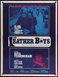 8r042 LEATHER BOYS 30x40 1966 Rita Tushingham in English motorcycle sexual conflict classic!
