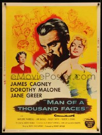 8r051 MAN OF A THOUSAND FACES style Z 30x40 1957 James Cagney as Lon Chaney Sr. by Reynold Brown!