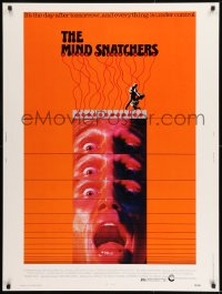 8r057 MIND SNATCHERS 30x40 1972 crazy scientist can stimulate the pleasure center in your brain!
