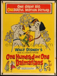 8r070 ONE HUNDRED & ONE DALMATIANS 30x40 1961 most classic Walt Disney canine family cartoon!