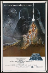 8r002 STAR WARS style A first printing int'l 1sh 1977 George Lucas classic epic, art by Tom Jung!