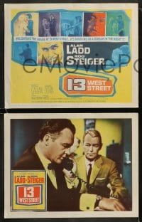 8w036 13 WEST STREET 8 LCs 1962 Alan Ladd, Rod Steiger, as shocking as a scream in the night!