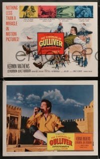 8w037 3 WORLDS OF GULLIVER 8 LCs 1960 Ray Harryhausen fantasy classic, giant Kerwin Mathews!