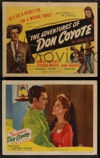 8w048 ADVENTURES OF DON COYOTE 8 LCs 1947 he has a deadly eye for a target & roving eye for a redhead!