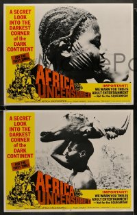 8w050 AFRICA UNCENSORED 8 LCs 1972 Africa ama, wild images from mondo documentary!