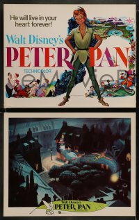 8w029 PETER PAN 9 LCs R1976 great images from Walt Disney animated cartoon fantasy classic!