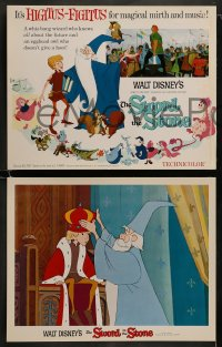 8w031 SWORD IN THE STONE 9 LCs 1964 Disney's cartoon story of young King Arthur & Merlin the Wizard!
