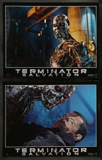 8w012 TERMINATOR SALVATION 12 LCs 2009 Christian Bale, Sam Worthington, cool sci-fi images!