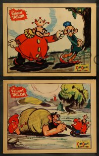 8w003 VALIANT TAILOR complete set of 4 LCs 1934 incredible Ub Iwerks art, ComiColor cartoon, rare!