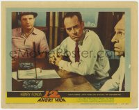 8z036 12 ANGRY MEN LC #4 1957 Henry Fonda by knife between Jack Warden and Joseph Sweeney!