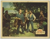 8z037 13 RUE MADELEINE LC #7 1946 James Cagney surrounded by men with guns in World War II!