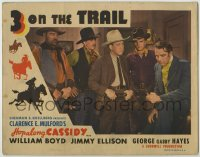 8z040 3 ON THE TRAIL LC R1946 close up of a gang of Hopalong Cassidy's enemies!