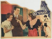 8z001 42nd STREET LC 1933 George Brent shields scared Ruby Keeler from angry Bebe Daniels!