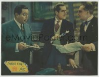 8z007 CHARLIE CHAN IN PARIS LC 1935 Warner Oland by men studying a clue w/ magnifying glass, rare!