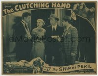 8z008 CLUTCHING HAND chapter 11 LC 1936 Jack Mulhall in early serial, The Ship of Peril, cool art!