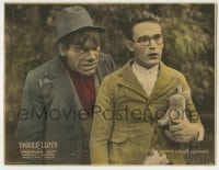 8z013 GRANDMA'S BOY LC 1922 Harold Lloyd with stuffed animal is up against a tough customer!