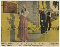 8z017 HOT WATER LC 1924 lovestruck Harold Lloyd is wobbly at the sight of pretty Jobyna Ralston!