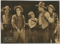 8z018 IN WRONG WRIGHT LC 1920 Dorothy Wood watches sheriff taking handcuffed Hoot Gibson away!