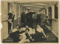 8z019 MADAME MYSTERY LC 1926 Captain Oliver Hardy orders stewards out of Theda Bara's cabin!