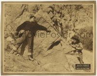 8z020 MEN IN THE RAW LC 1923 Jack Hoxie tries to rescue Marguerite Clayton held by Sid Jordan!