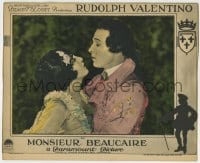 8z021 MONSIEUR BEAUCAIRE LC 1924 close up of Rudolph Valentino about to kiss pretty Bebe Daniels!