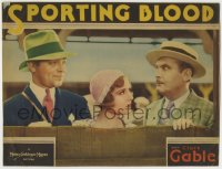 8z031 SPORTING BLOOD LC 1931 young Clark Gable smiles at & Madge Evans glares at Lew Cody!
