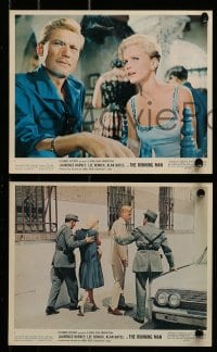 9a039 RUNNING MAN 9 color 8x10 stills 1963 Laurence Harvey, Lee Remick, Carol Reed!