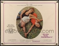 9c005 10:30 P.M. SUMMER 1/2sh 1966 Melina Mercouri, Romy Schneider & Peter Finch in love triangle!