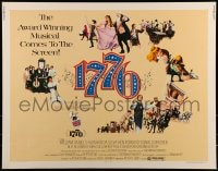 9c006 1776 1/2sh 1972 William Daniels, the award winning historical musical comes to the screen!